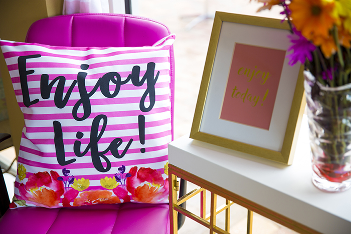 Enjoy Life Pillow Cover thumbnail