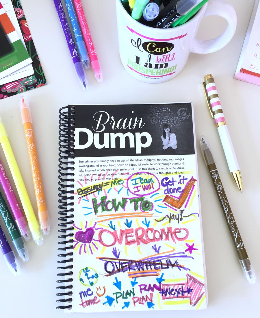 productivity-planner-braindump-page