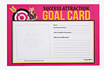 Success Attraction Goal Cards-Pink thumbnail
